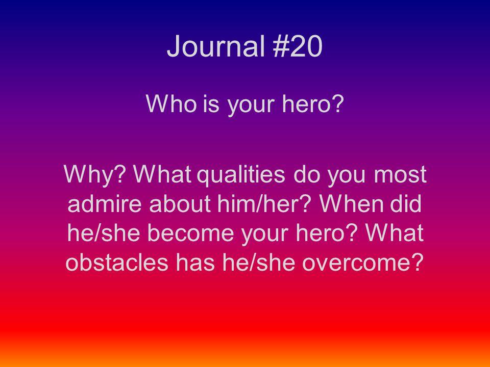 Journal #20