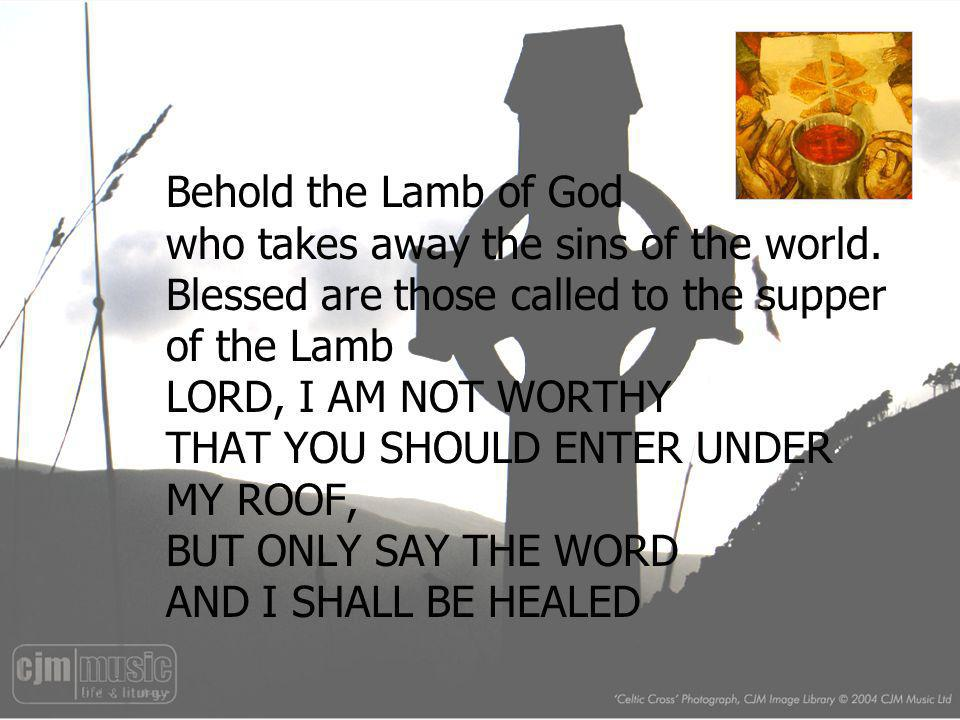 Behold the Lamb of God who takes away the sins of the world