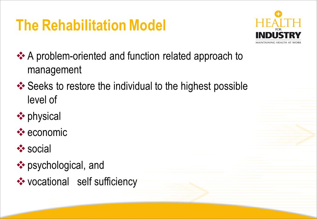 The Rehabilitation Model