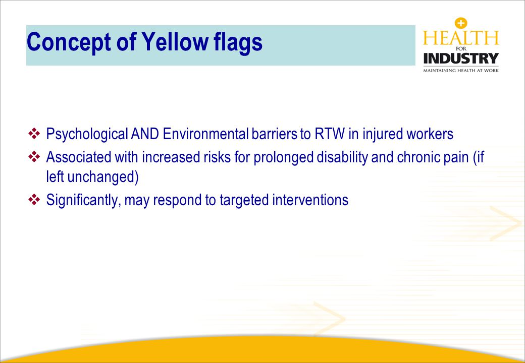 Concept of Yellow flags