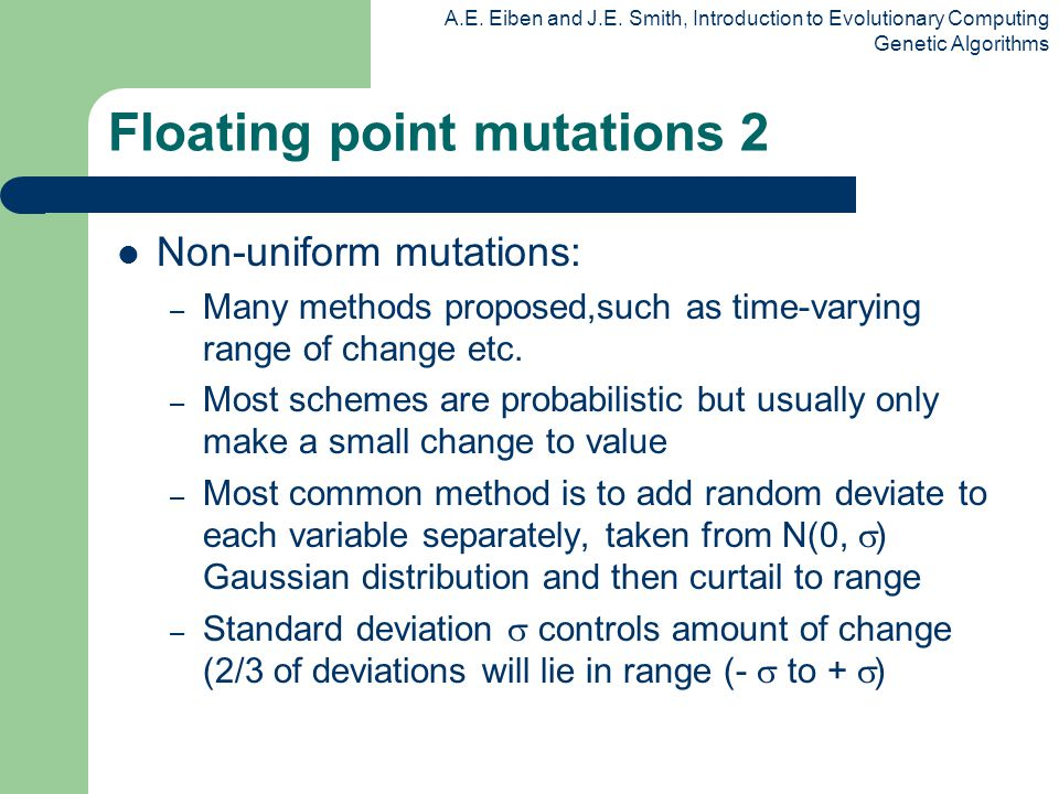 Floating point mutations 2