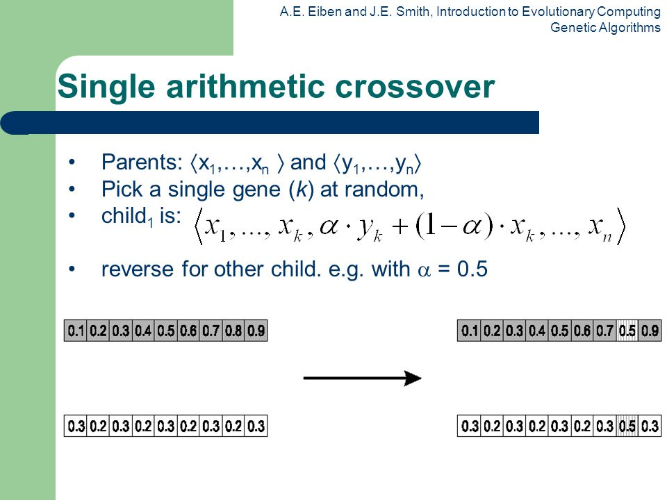 Single arithmetic crossover
