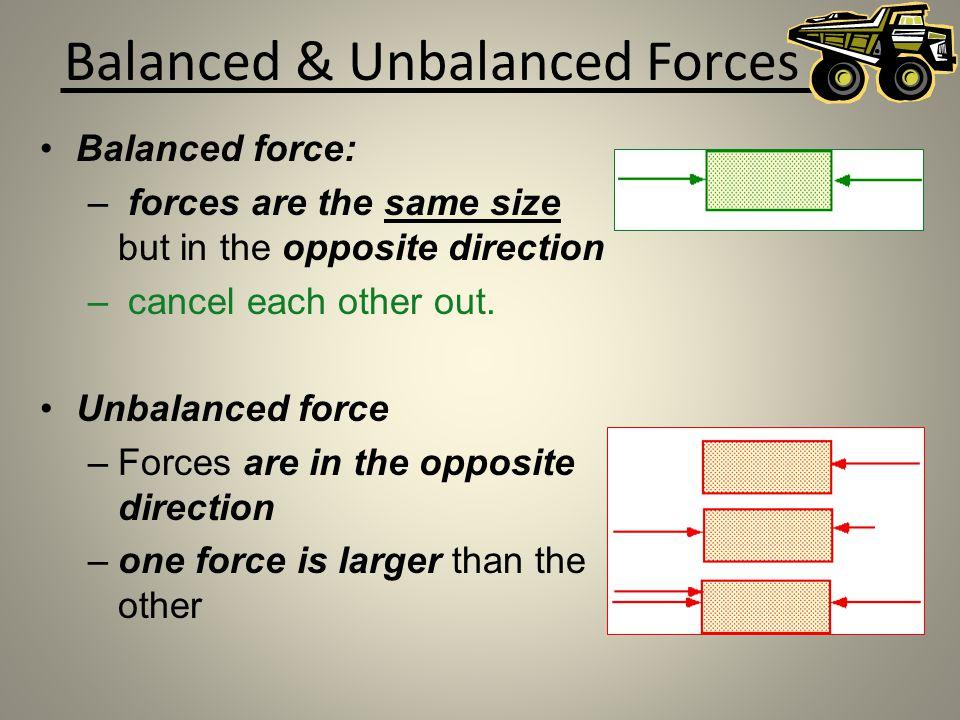 Balanced & Unbalanced Forces