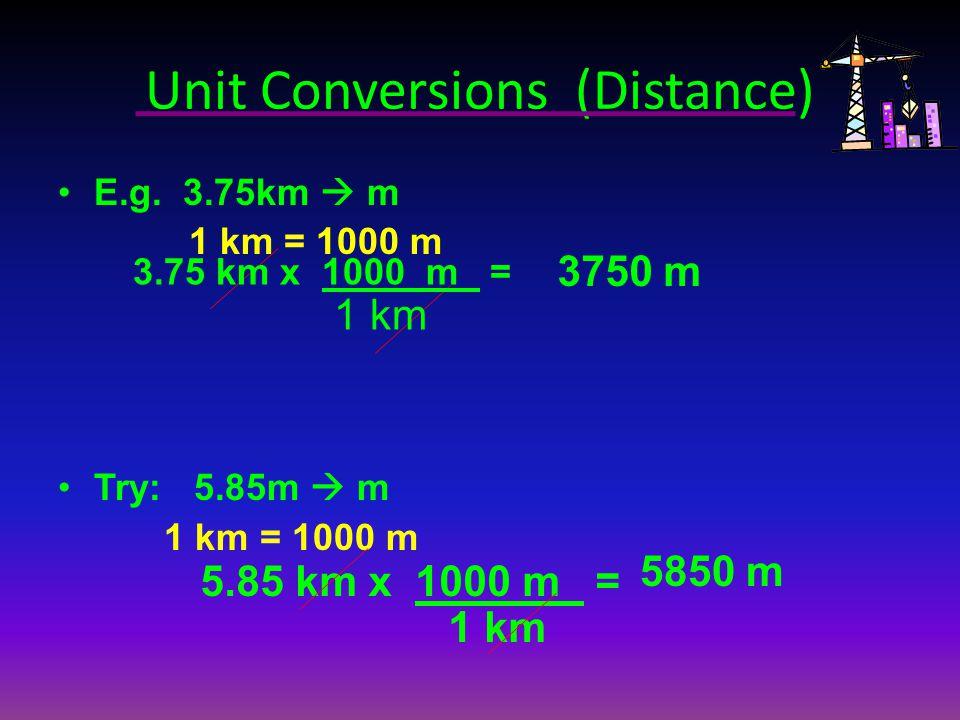 Unit Conversions (Distance)