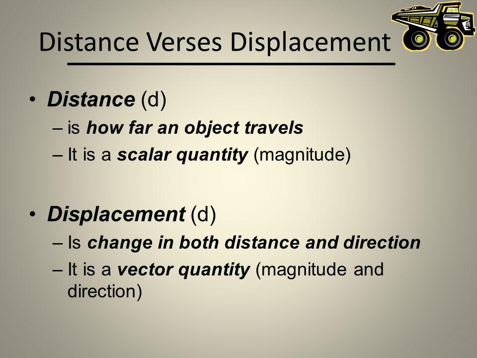 Distance Verses Displacement