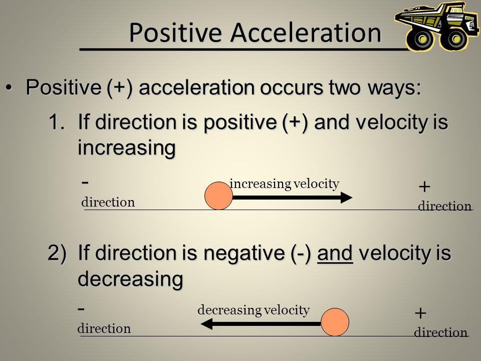 Positive Acceleration