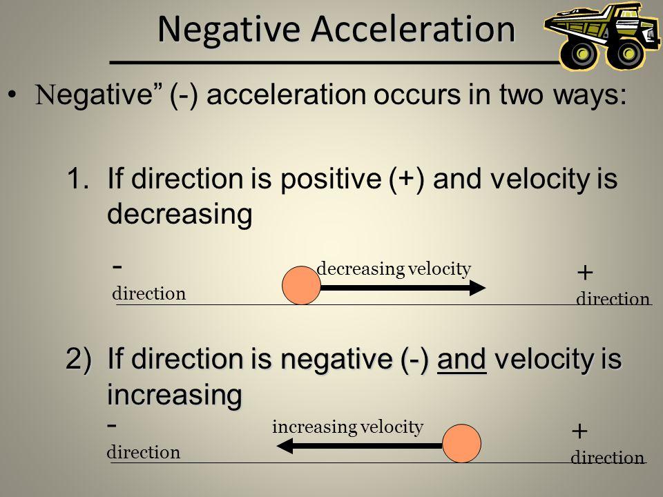 Negative Acceleration