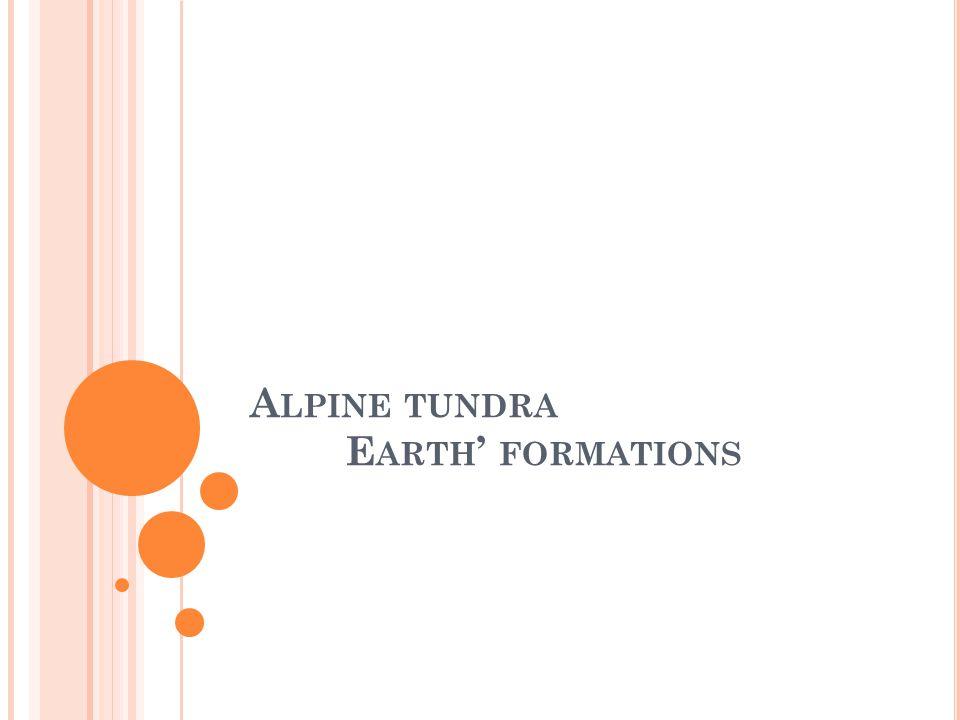 Alpine tundra Earth' formations
