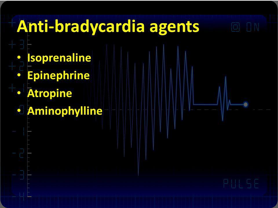 Anti-bradycardia agents