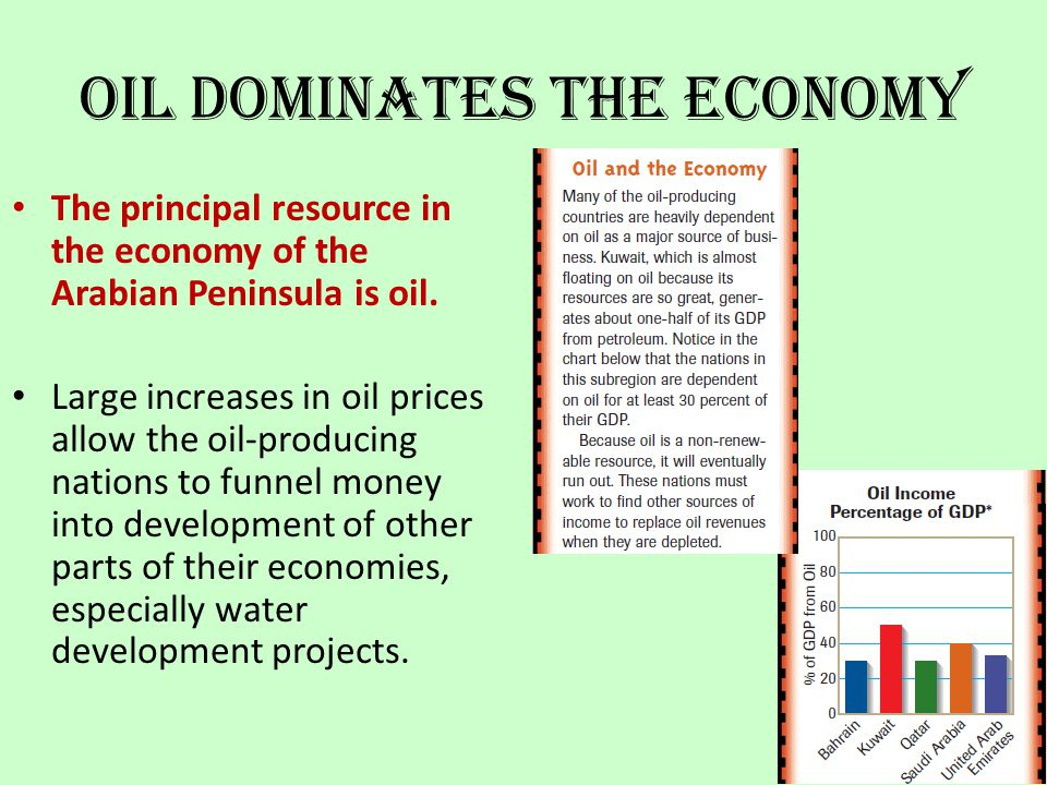 Oil Dominates the Economy