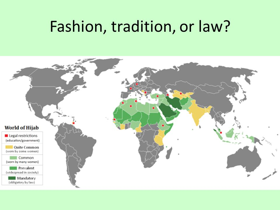 Fashion, tradition, or law