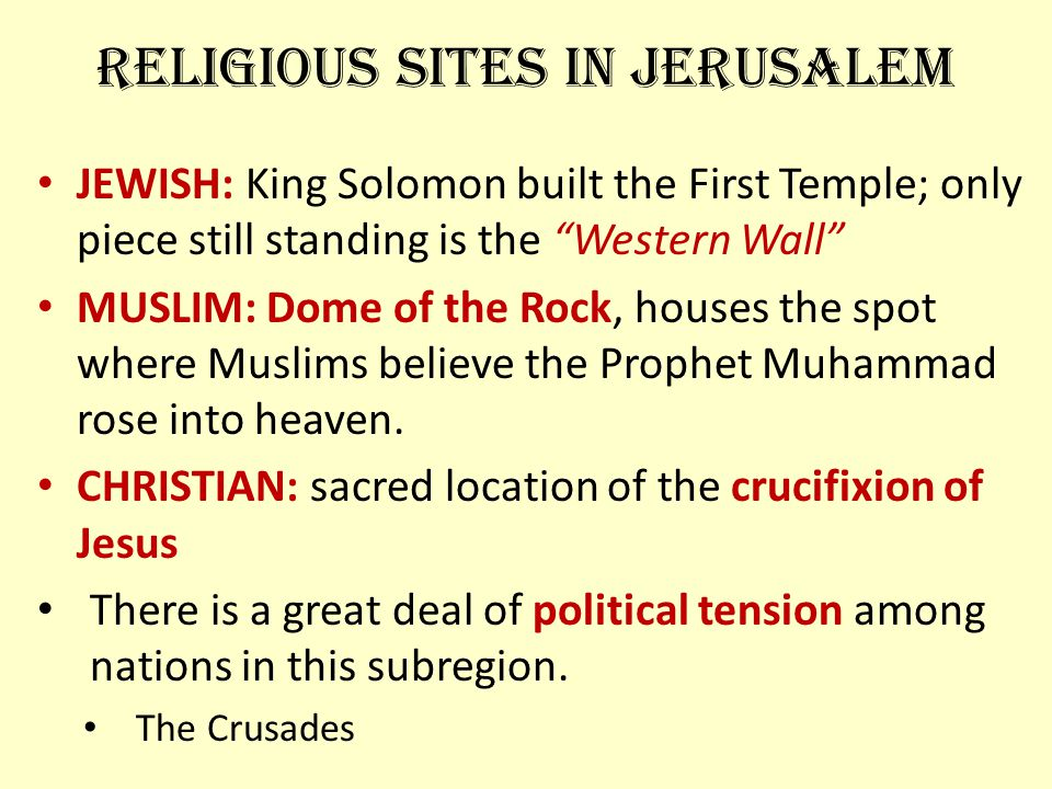 Religious Sites in Jerusalem
