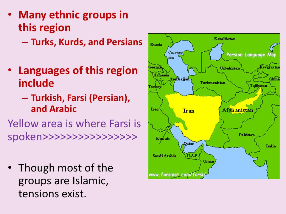 Many ethnic groups in this region
