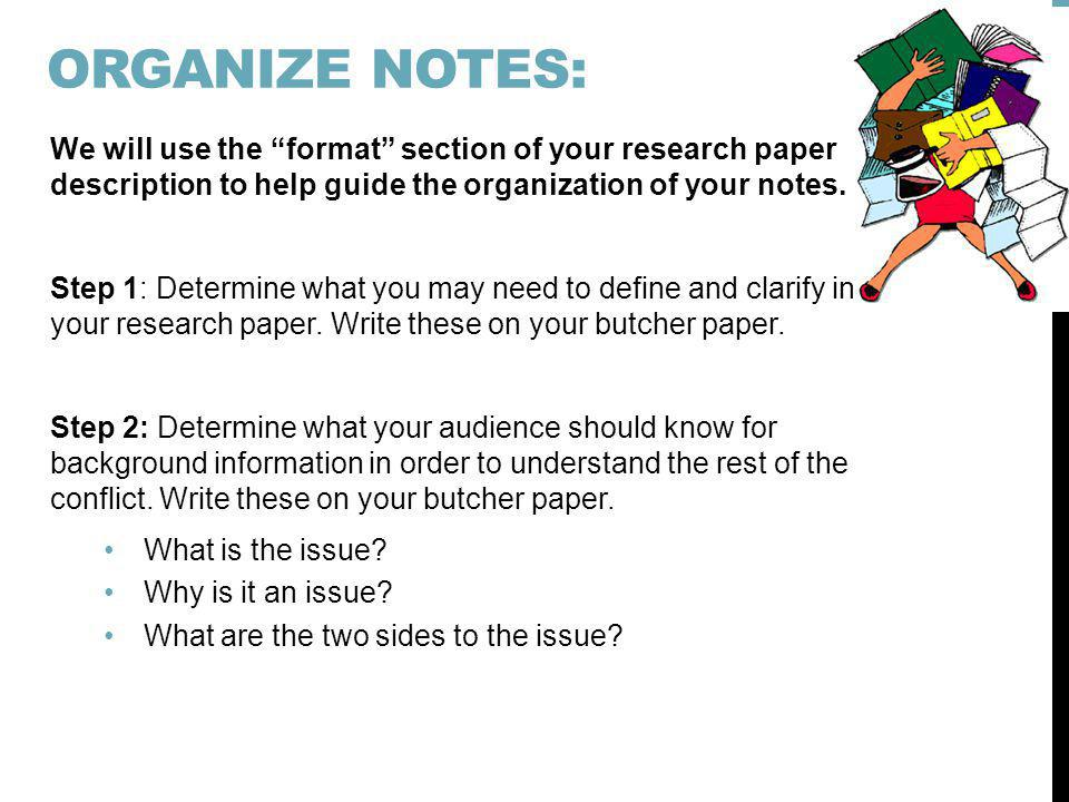 organizing research notes dissertation