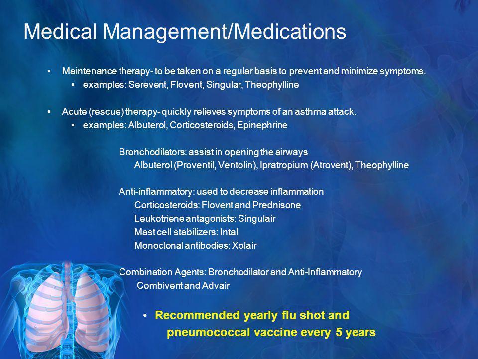 Medical Management/Medications