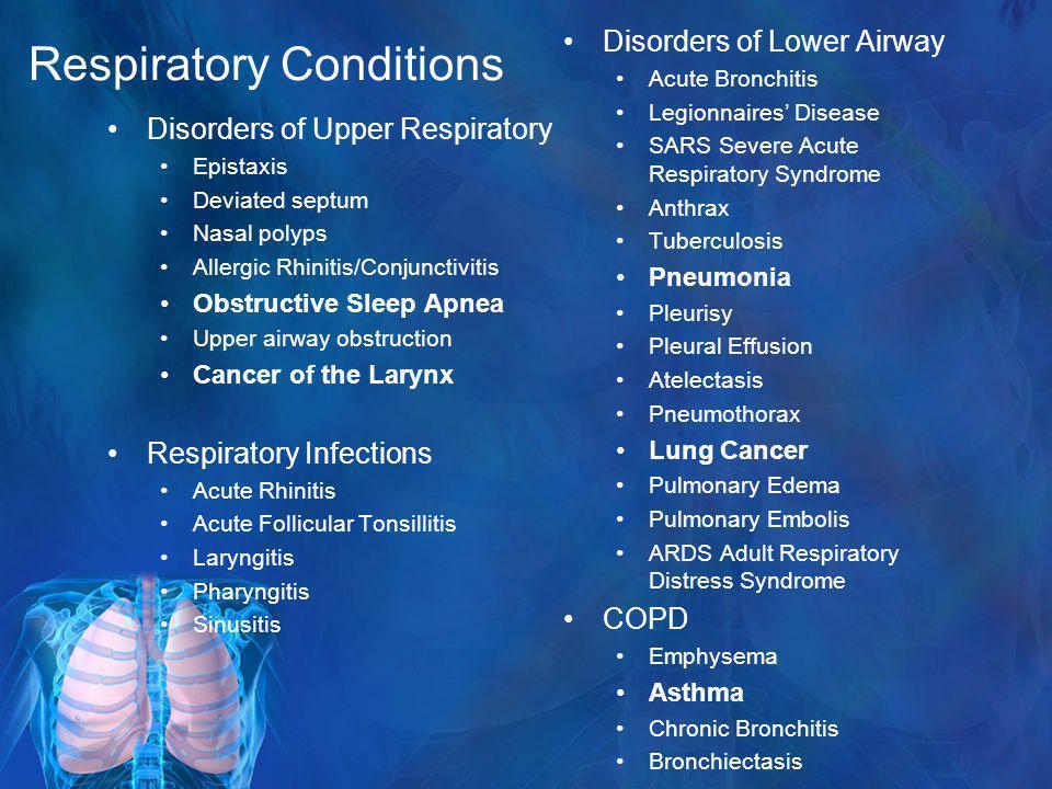 Respiratory Conditions