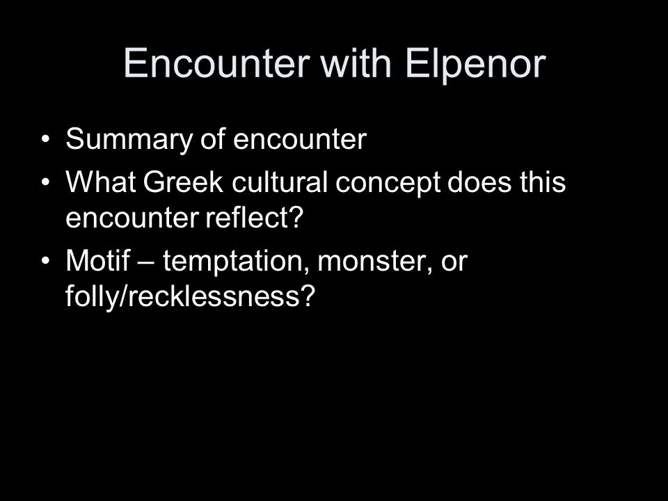 Encounter with Elpenor