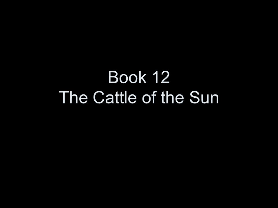 Book 12 The Cattle of the Sun