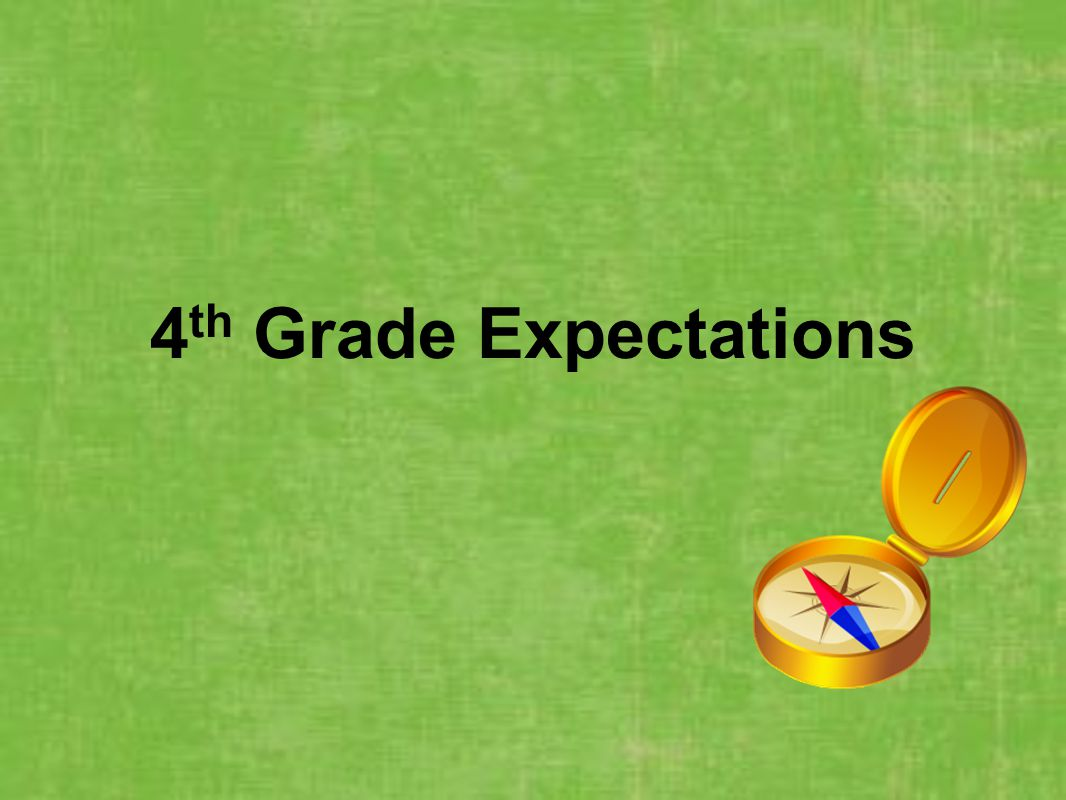 4th Grade Expectations