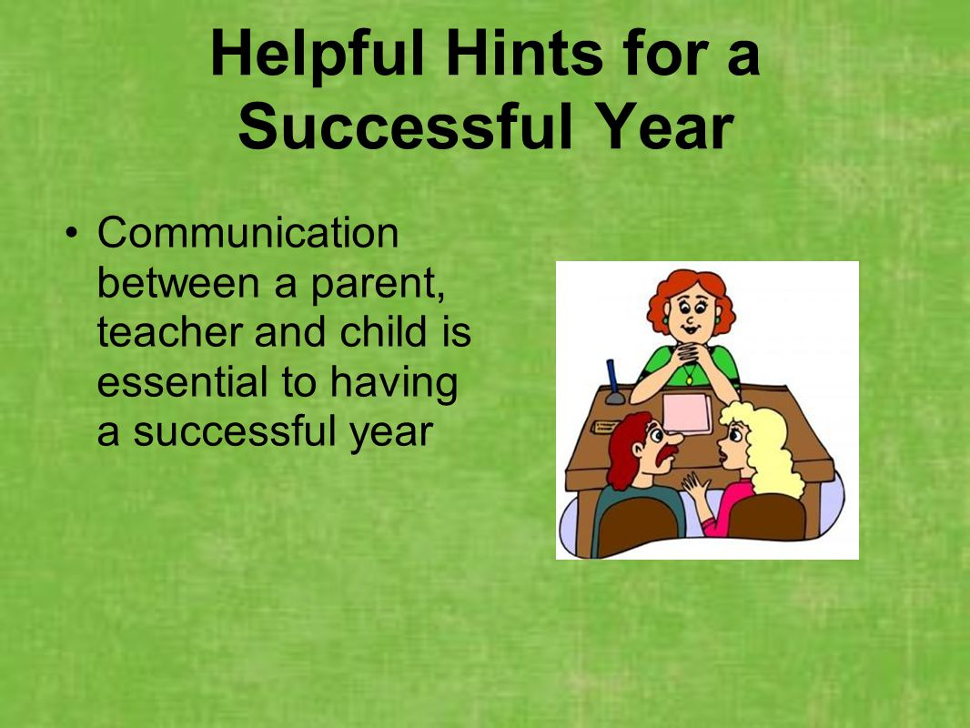 Helpful Hints for a Successful Year