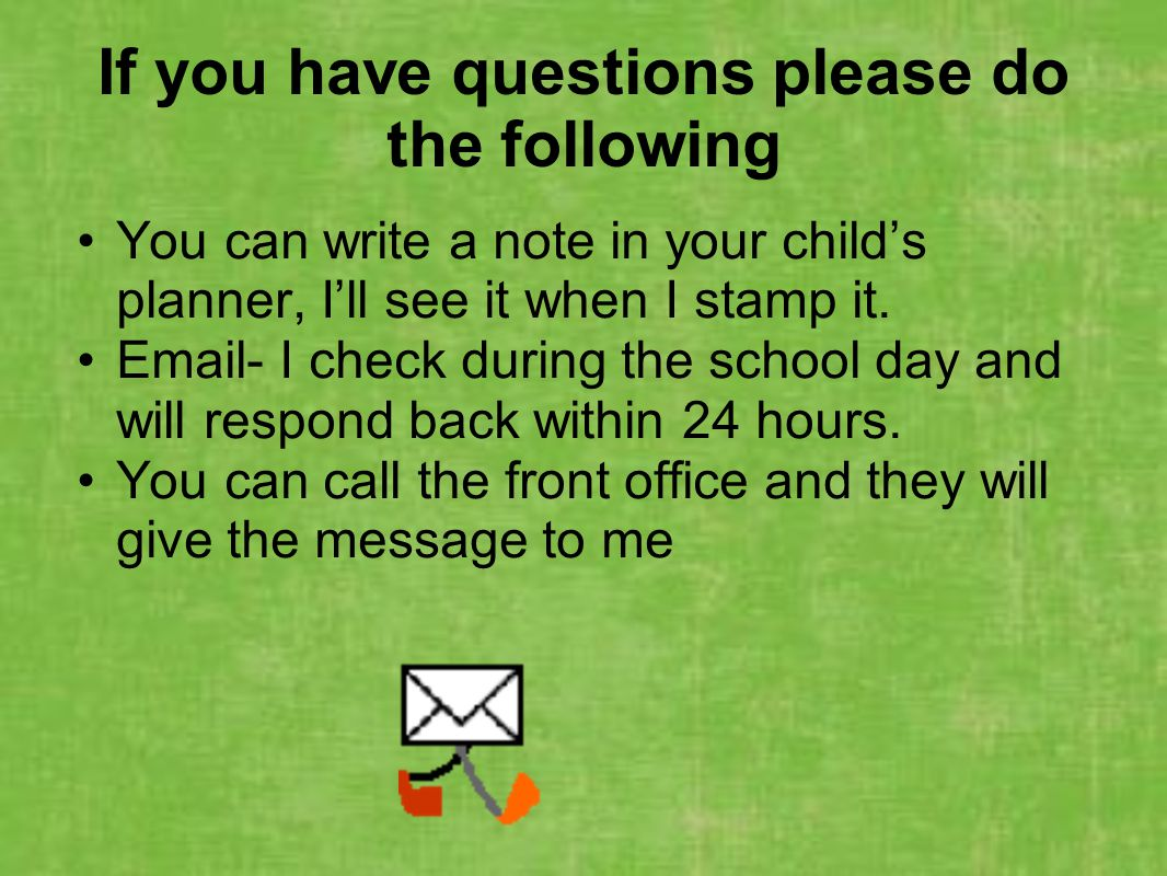 If you have questions please do the following