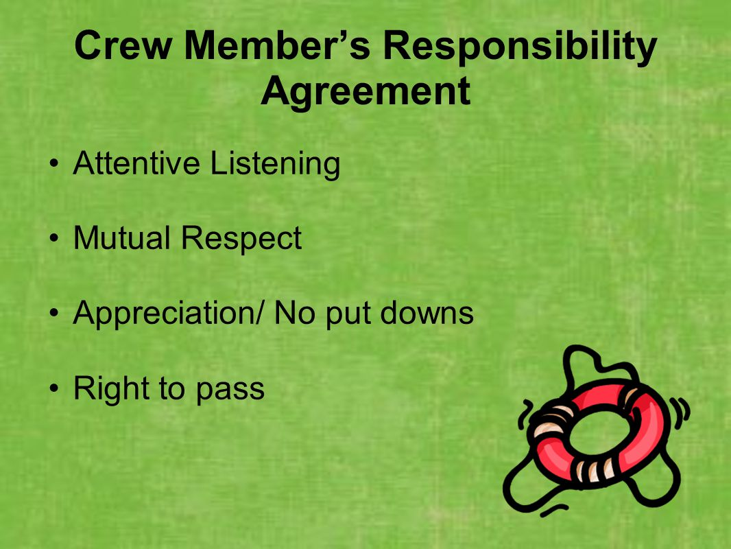 Crew Member's Responsibility Agreement