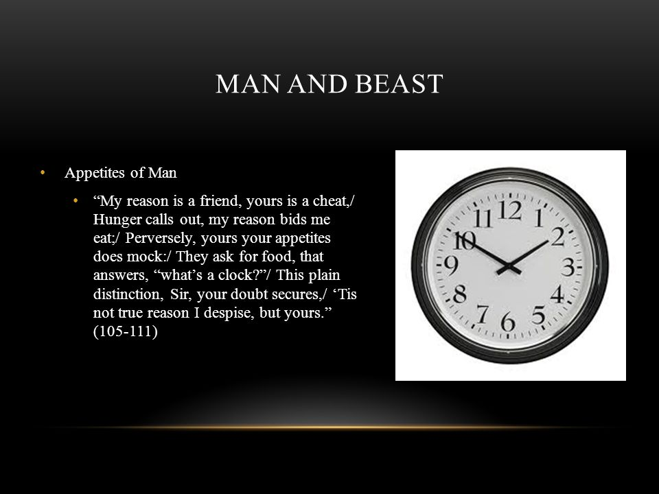 Man and Beast Appetites of Man