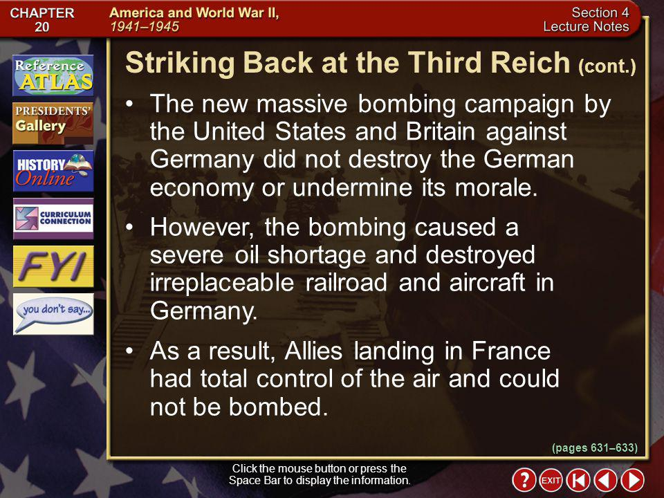 Striking Back at the Third Reich (cont.)