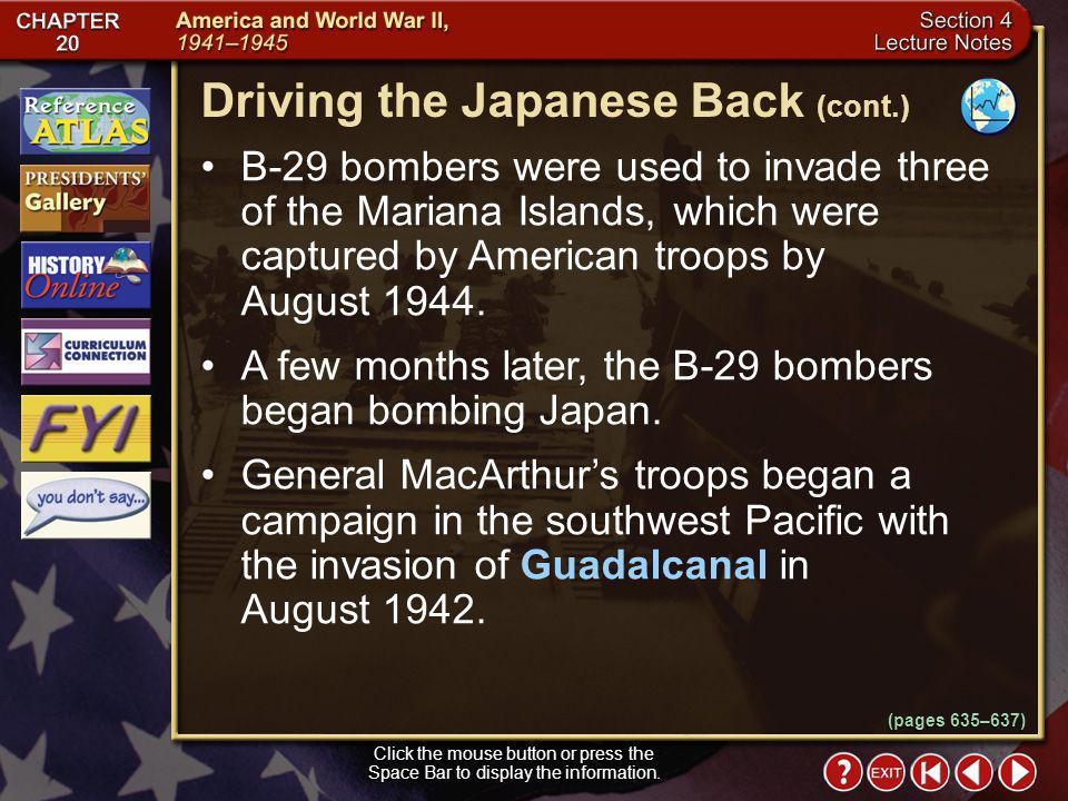 Driving the Japanese Back (cont.)