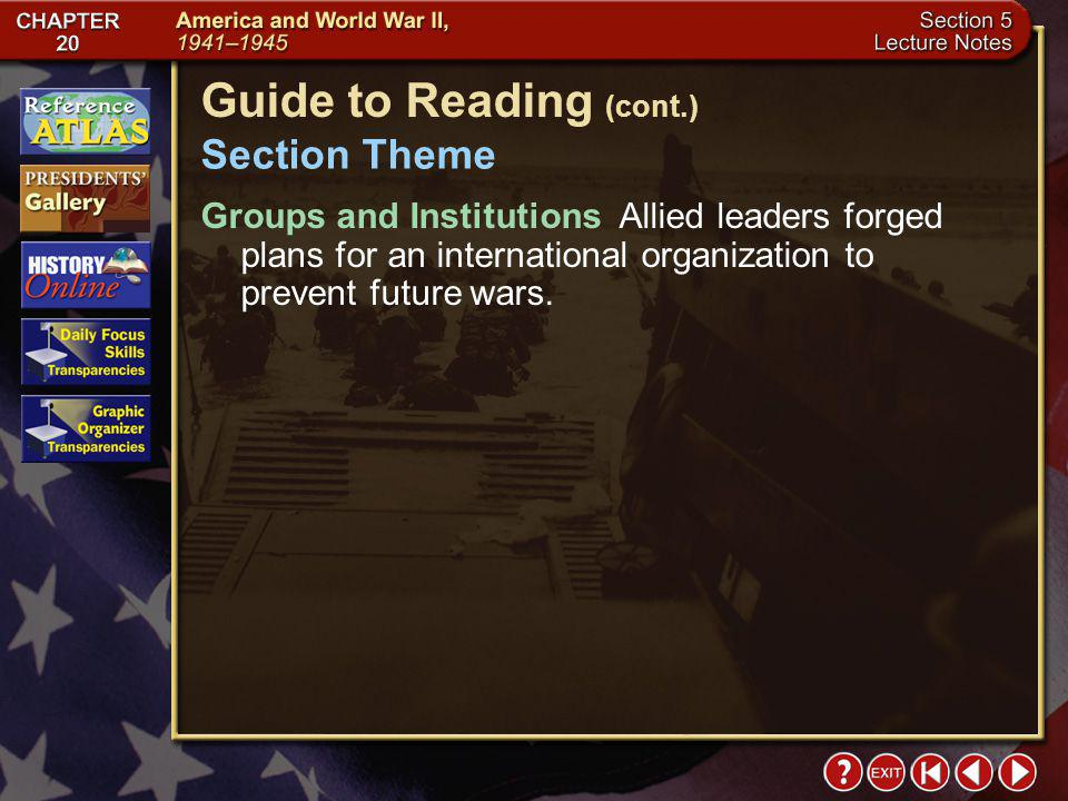 Guide to Reading (cont.)