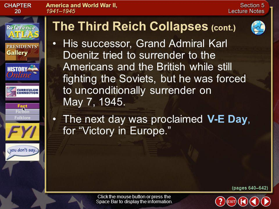 The Third Reich Collapses (cont.)