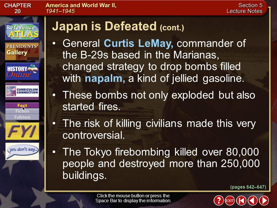Japan is Defeated (cont.)