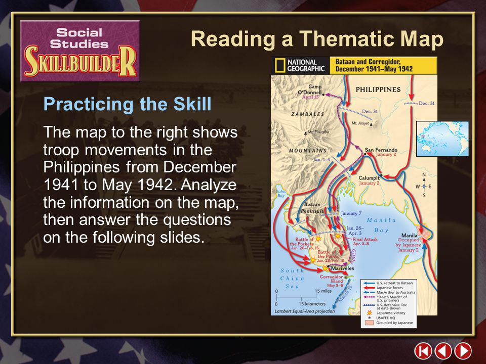 Reading a Thematic Map Practicing the Skill