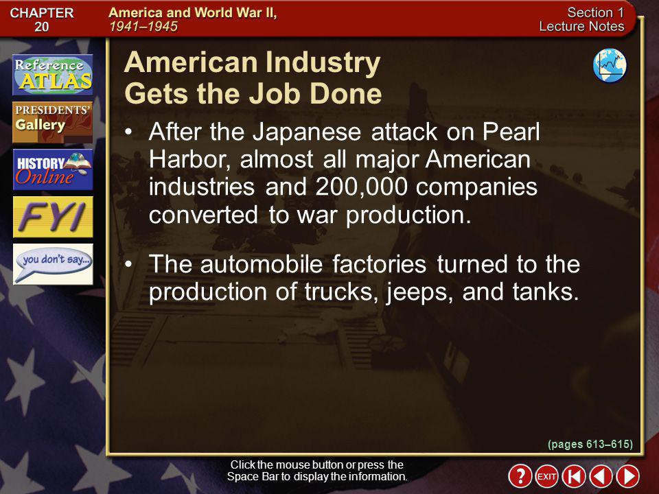 American Industry Gets the Job Done