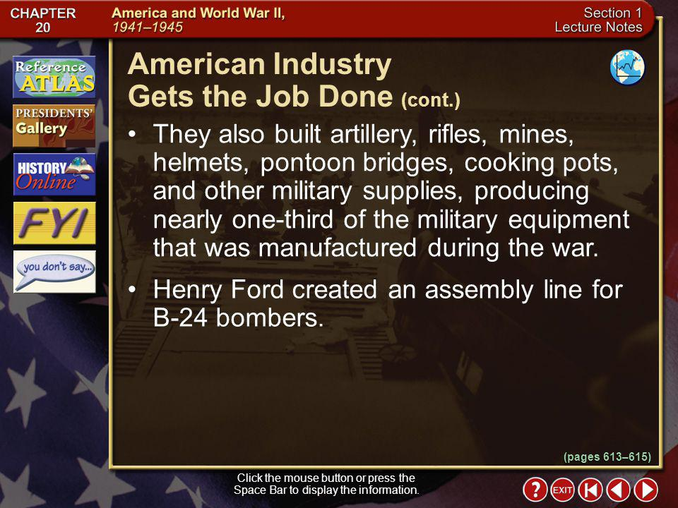 American Industry Gets the Job Done (cont.)