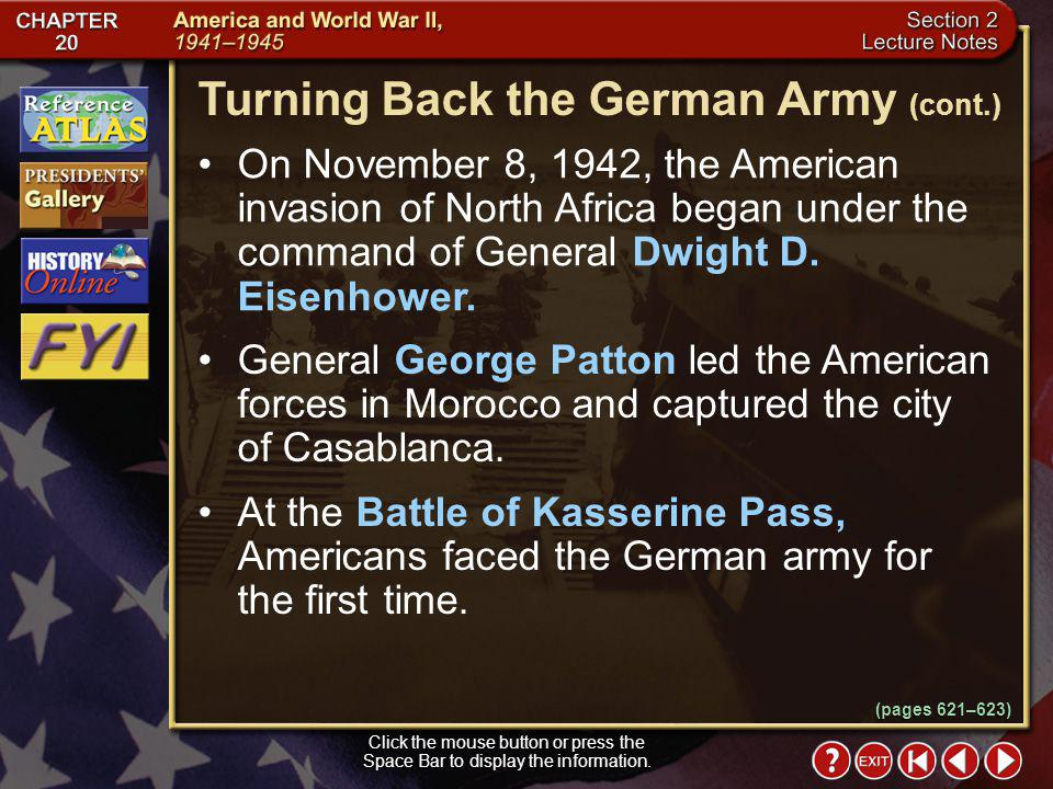 Turning Back the German Army (cont.)