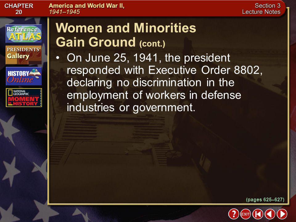 Women and Minorities Gain Ground (cont.)