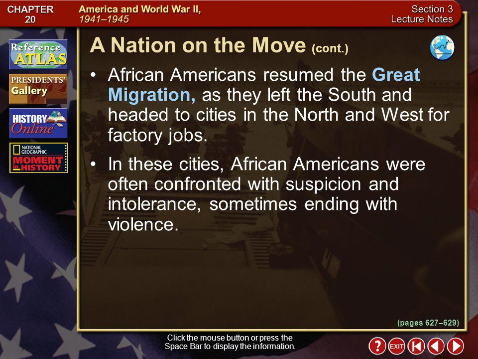 A Nation on the Move (cont.)