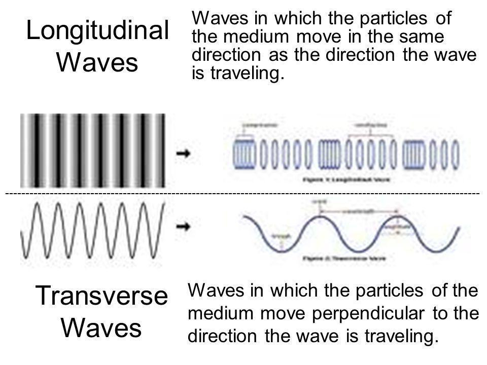 Longitudinal Waves Transverse Waves