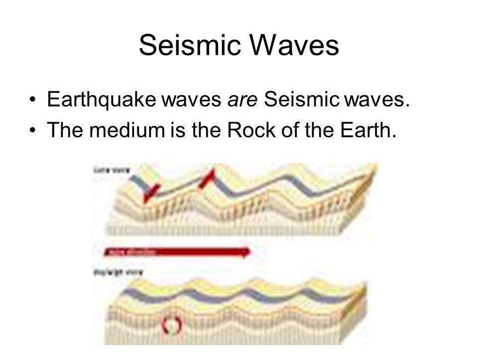 Seismic Waves Earthquake waves are Seismic waves.