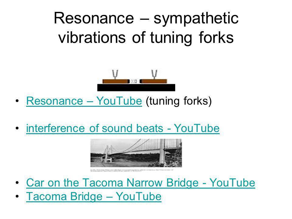 Resonance – sympathetic vibrations of tuning forks