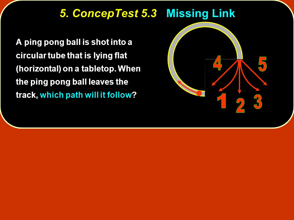 5. ConcepTest 5.3 Missing Link