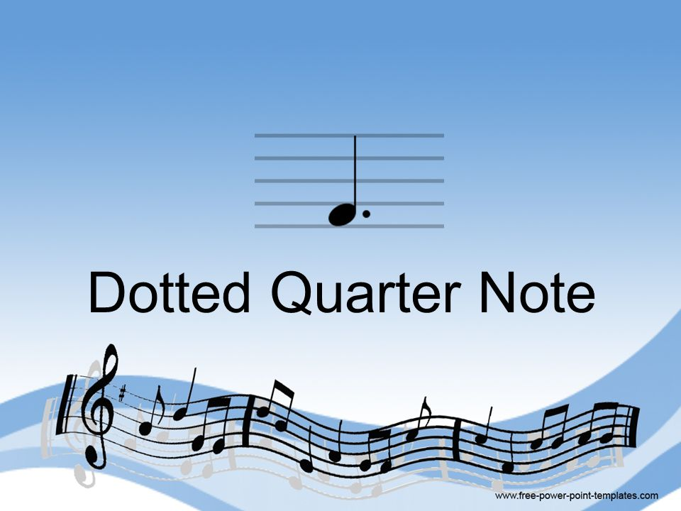 Dotted Quarter Note