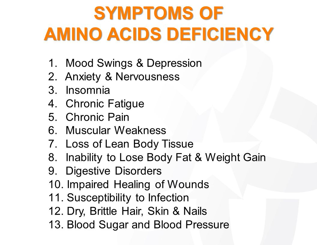 AMINO ACIDS DEFICIENCY