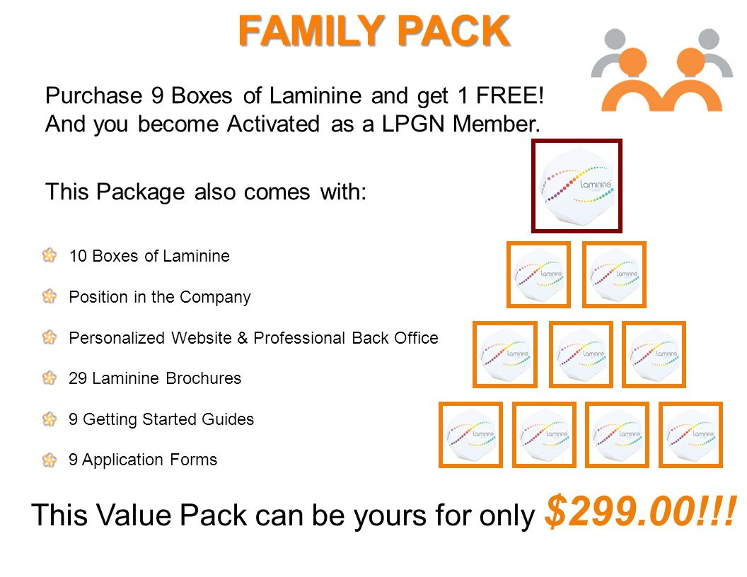 FAMILY PACK This Value Pack can be yours for only $299.00!!!