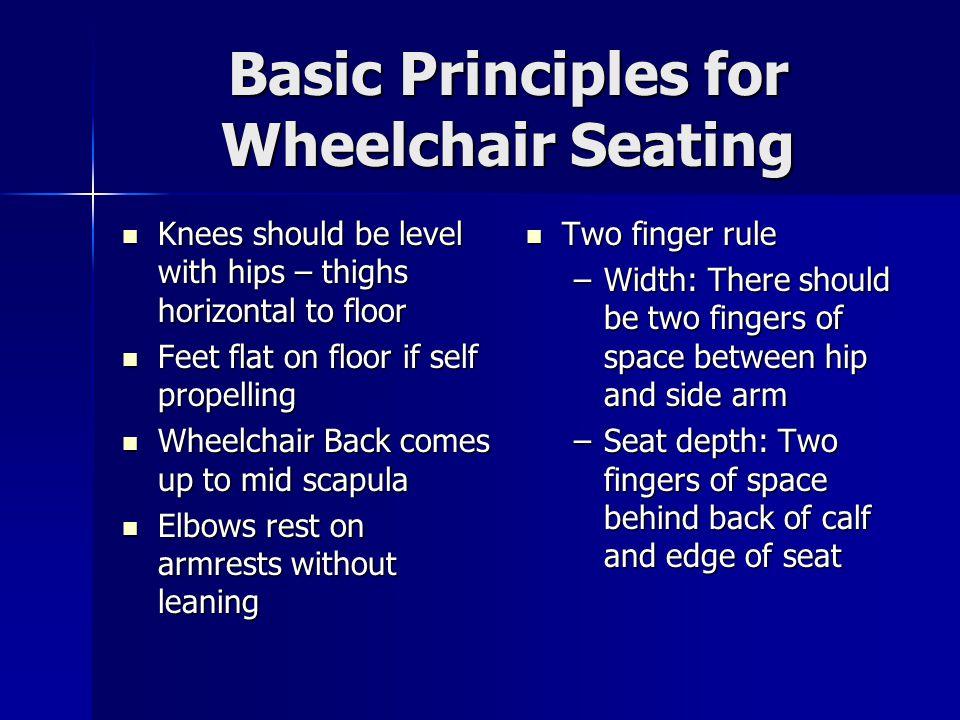 Basic Principles for Wheelchair Seating