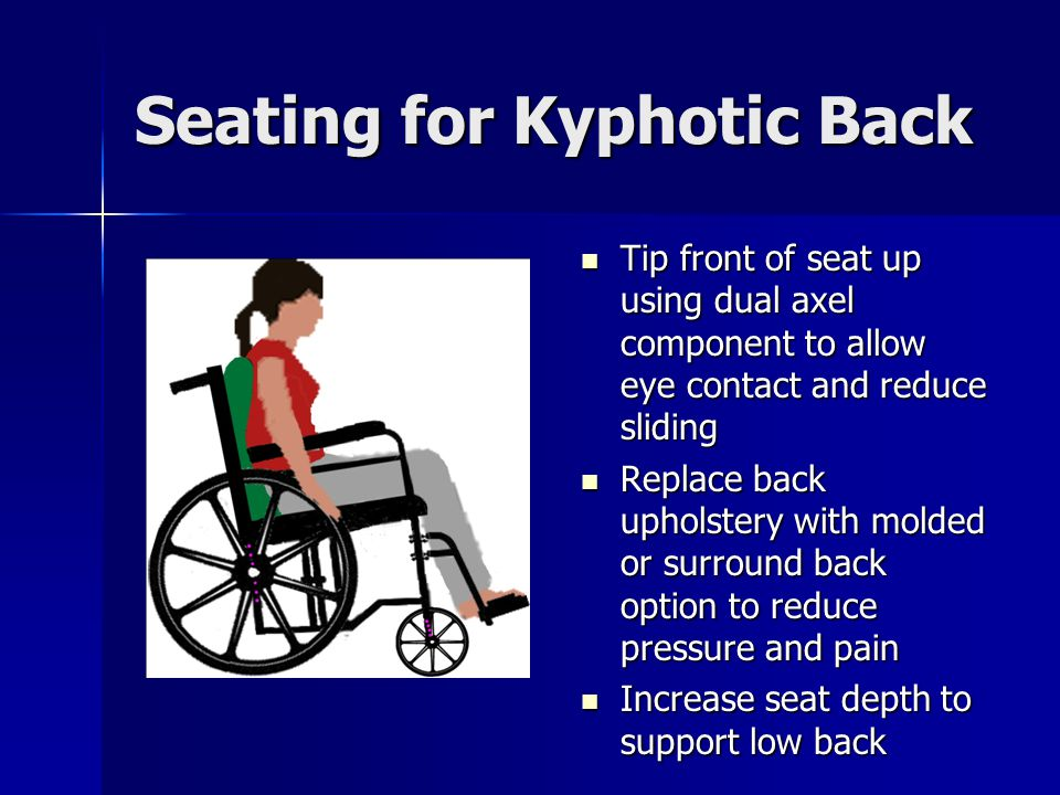 Seating for Kyphotic Back