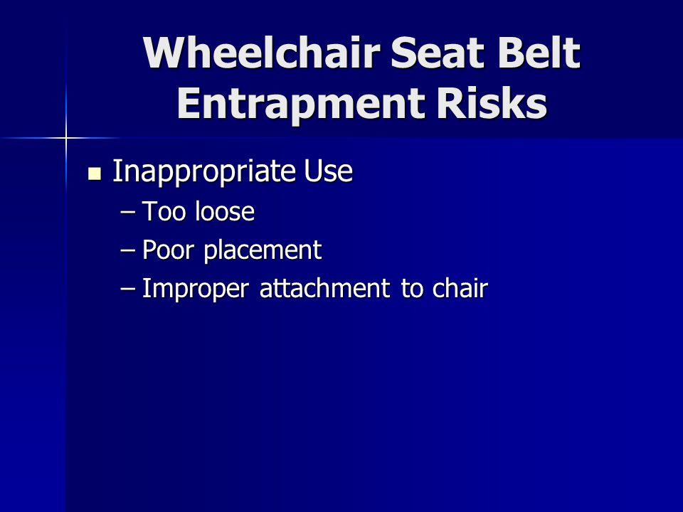 Wheelchair Seat Belt Entrapment Risks