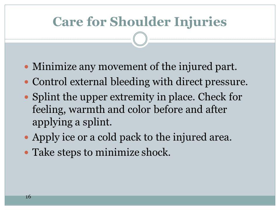 Care for Shoulder Injuries