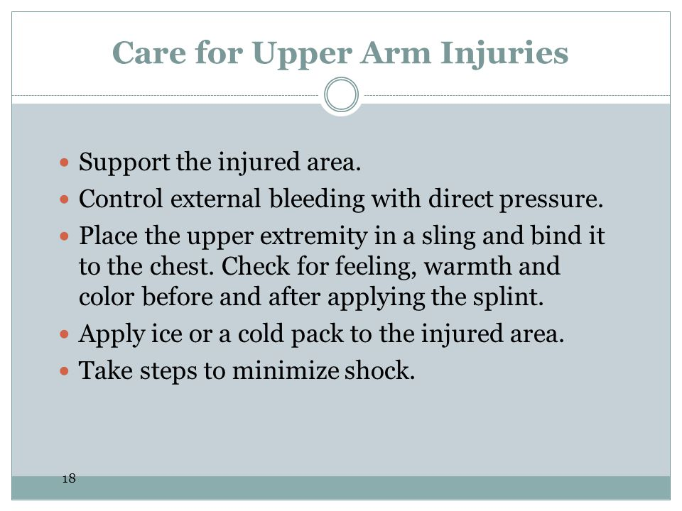 Care for Upper Arm Injuries
